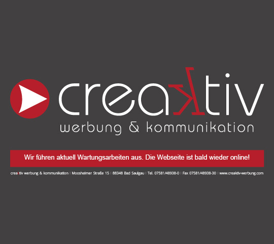 Hier entsteht die neue Homapge von Creaktiv Werbung