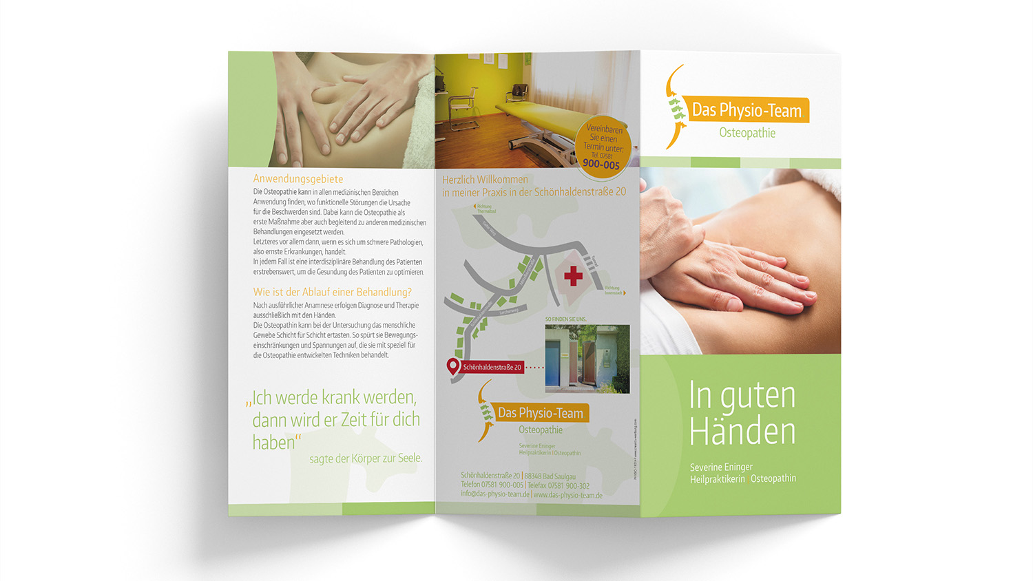Physio-Team Flyer Osteopathie